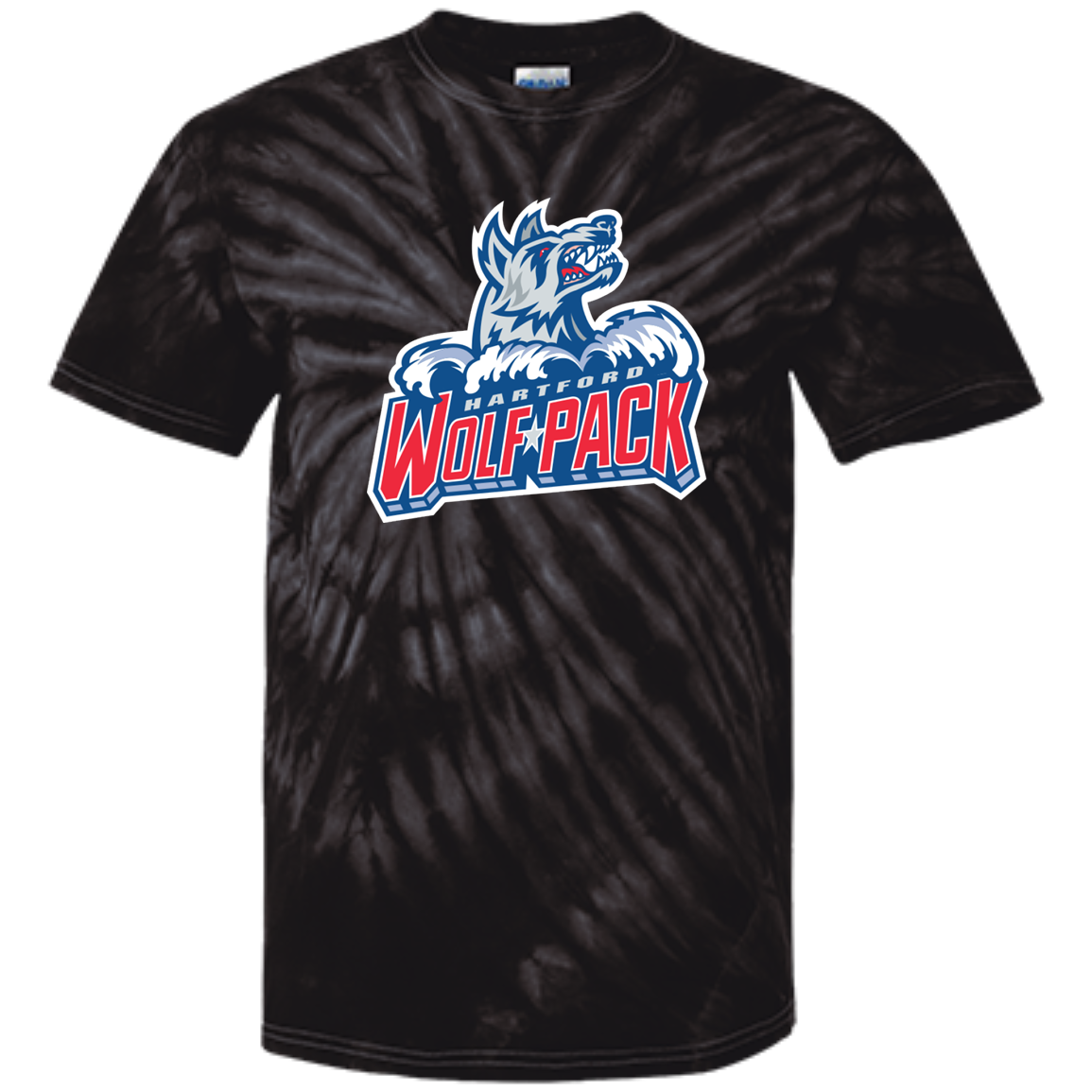 Hartford Wolf Pack Primary Logo Adult Tie Dye T Shirt