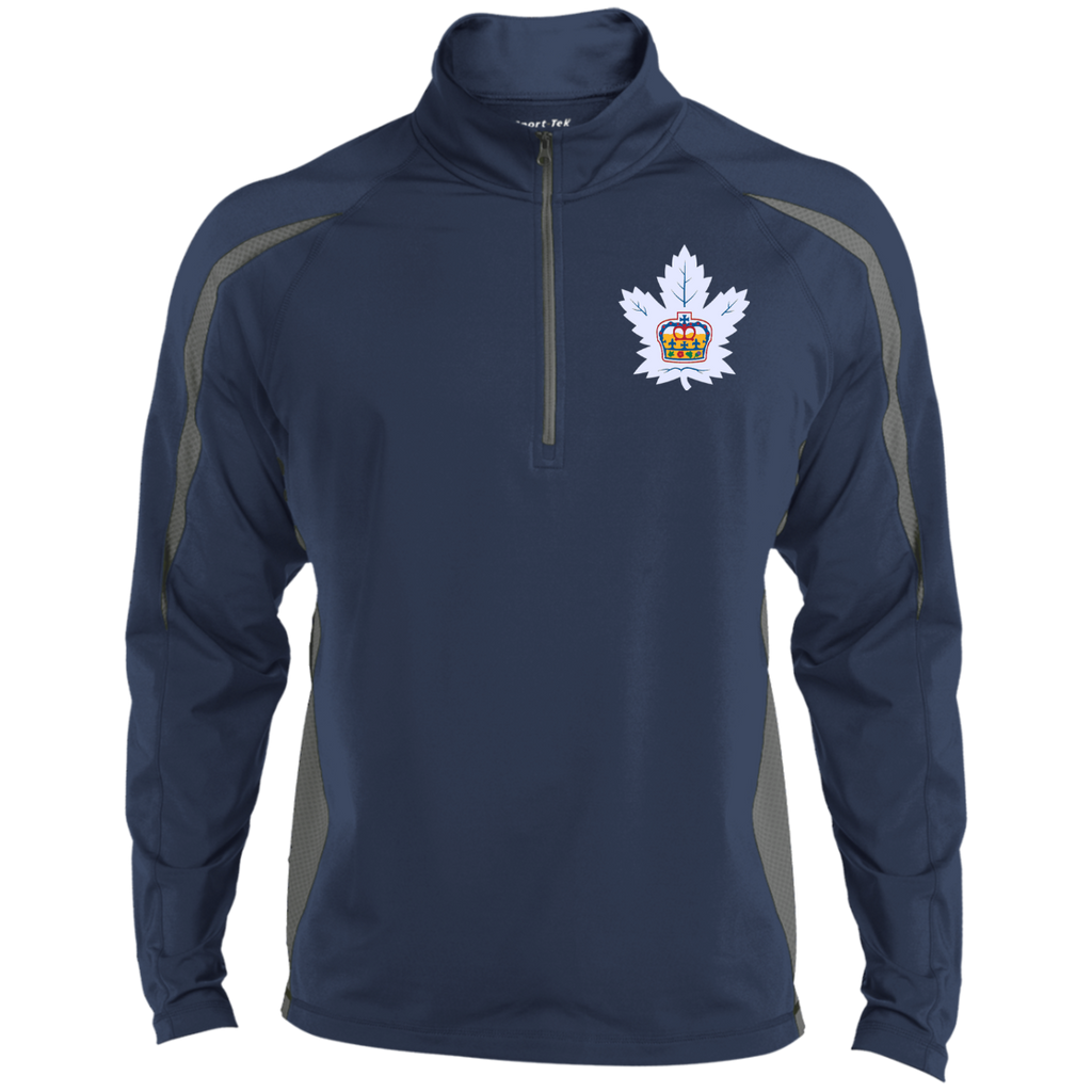 Toronto Marlies Mens Sport Wicking Colorblock Half-Zip