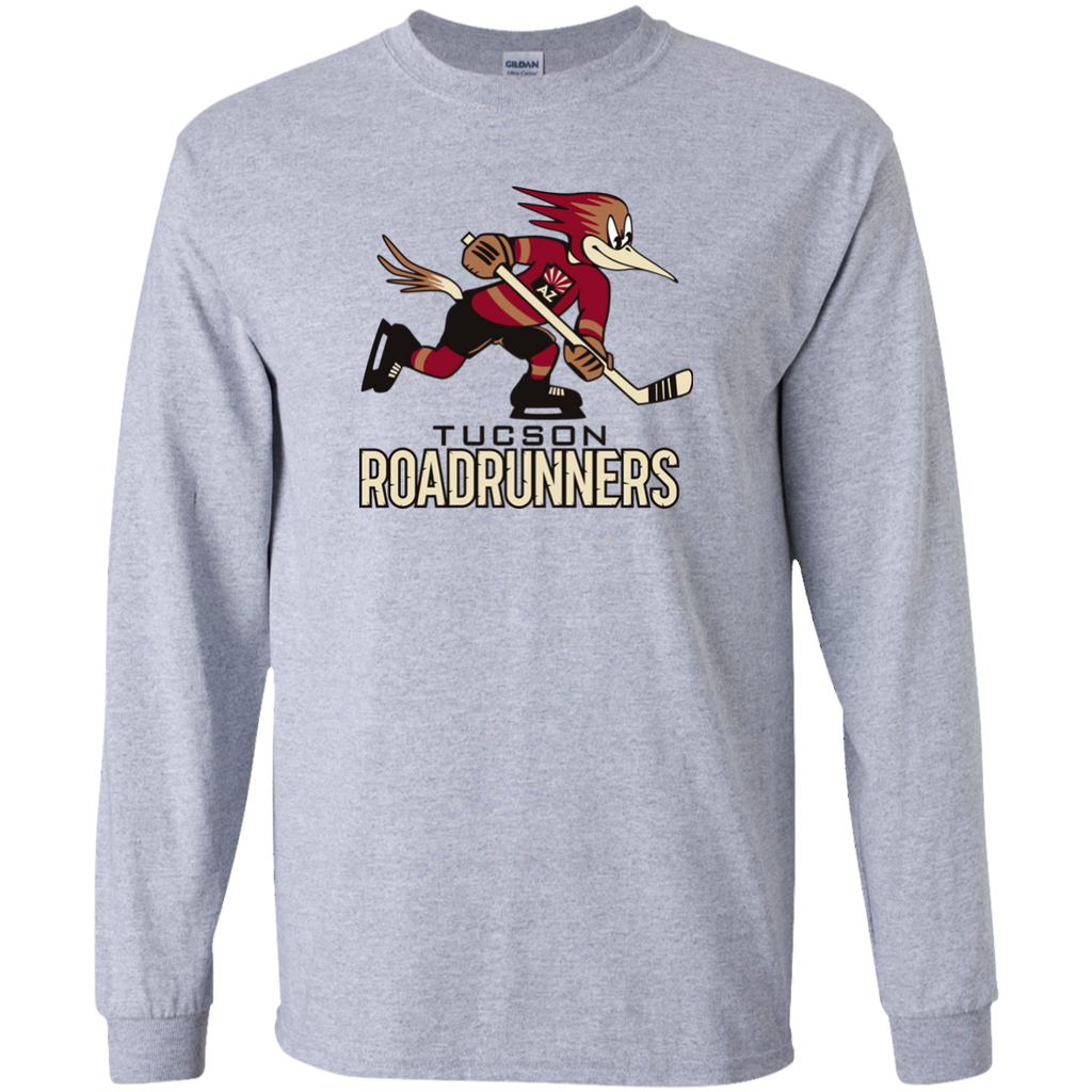 Tucson Roadrunners Primary Logo Youth Long Sleeve T-Shirt