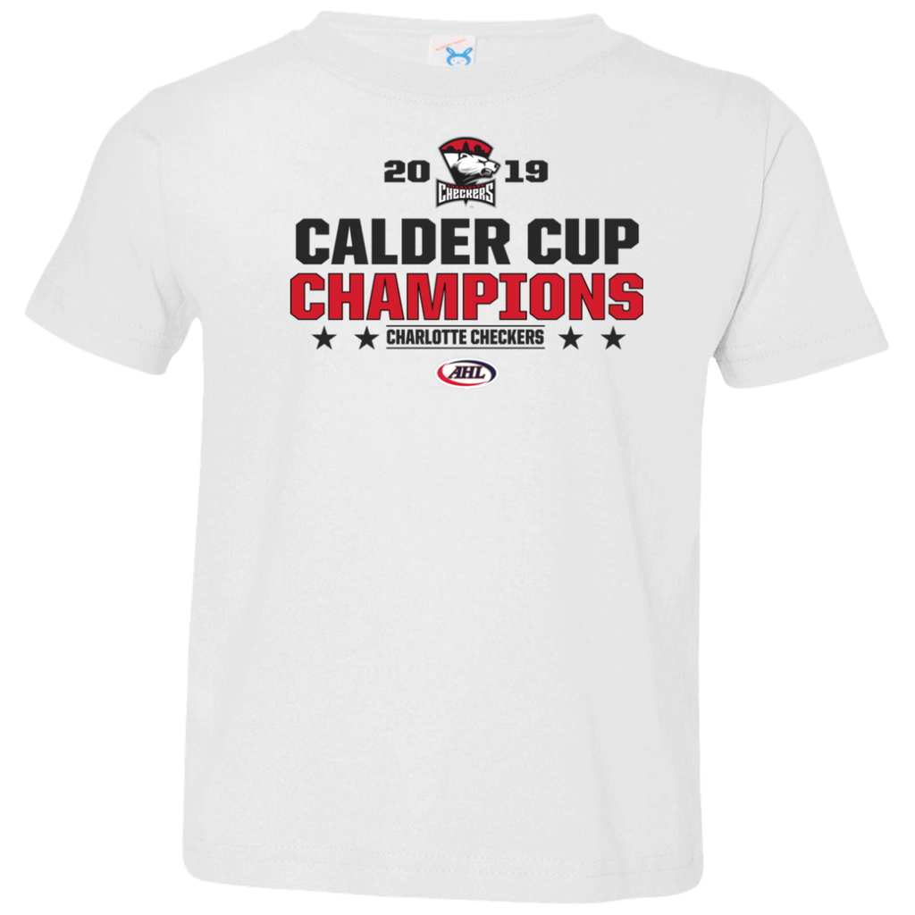 Charlotte Checkers 2019 Calder Cup Champions Toddler Stacked T-Shirt