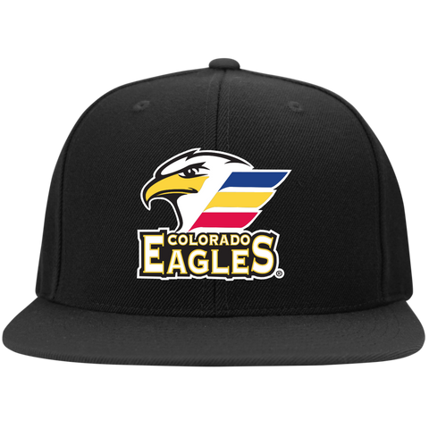 Colorado Eagles Flat Bill High Profile Snapback Hat