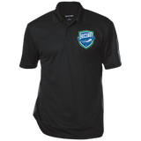 Utica Comets Adult Performance Textured Three-Button Polo