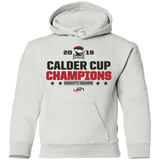 Charlotte Checkers 2019 Calder Cup Champions Youth Stacked Pullover Hoodie