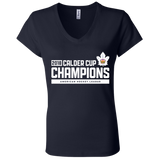 Toronto Marlies 2018 Calder Cup Champions Ladies' Raise the Bar Jersey V-Neck T-Shirt