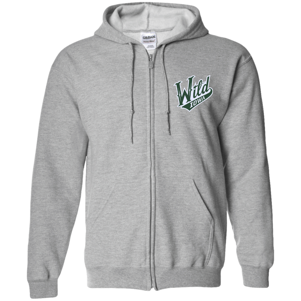 Iowa Wild Adult Embroidered Zip Up Hooded Sweatshirt