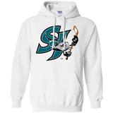 San Jose Barracuda Primary Logo Adult Pullover Hoodie