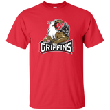 Grand Rapids Griffins Primary Logo Adult Short Sleeve T-Shirt
