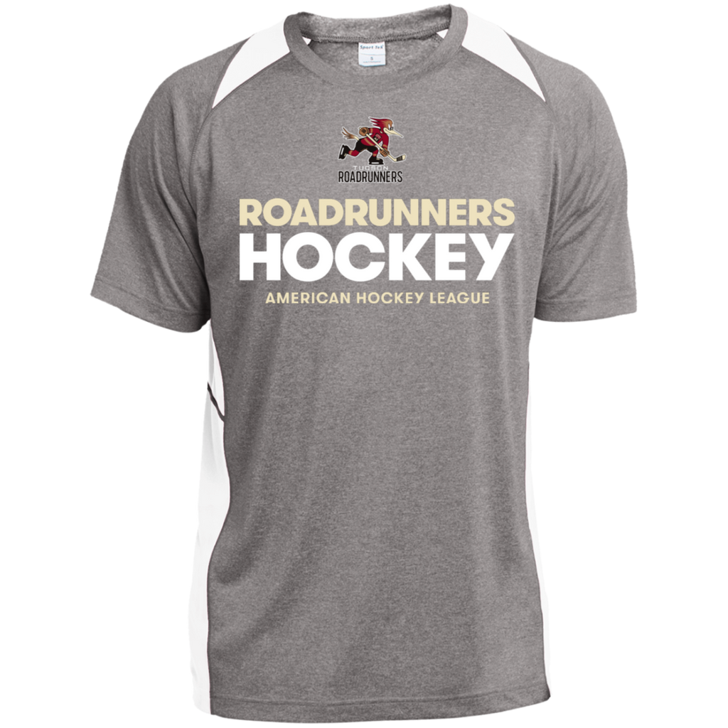Tucson Roadrunners Hockey Adult Heather Colorblock Poly T-Shirt