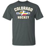 Colorado Eagles Adult Established Short Sleeve Cotton T-Shirt