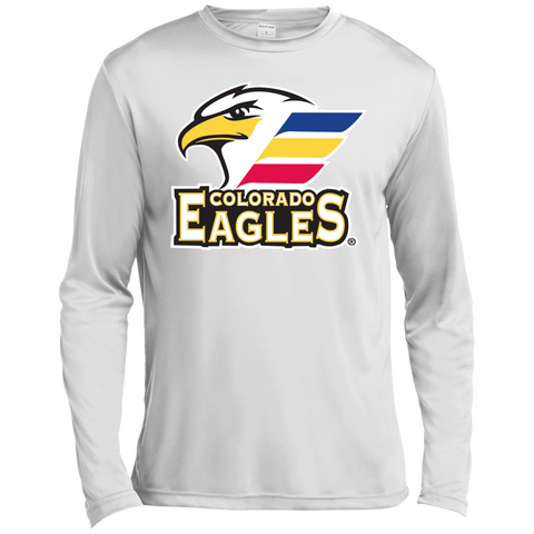 Colorado Eagles Primary Logo Long Sleeve Moisture Absorbing T-Shirt