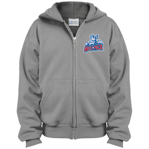 Hartford Wolf Pack Youth Embroidered Full Zip Hoodie