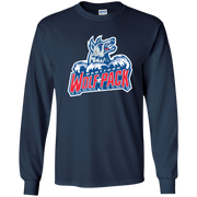 Hartford Wolf Pack Primary Logo Adult Long Sleeve T Shirt
