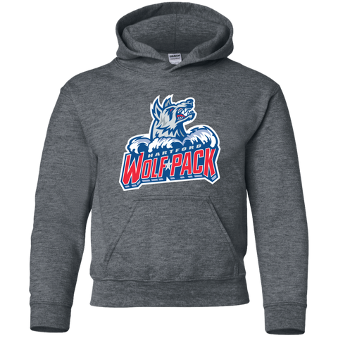 Hartford Wolf Pack Primary Logo Youth Pullover Hoodie