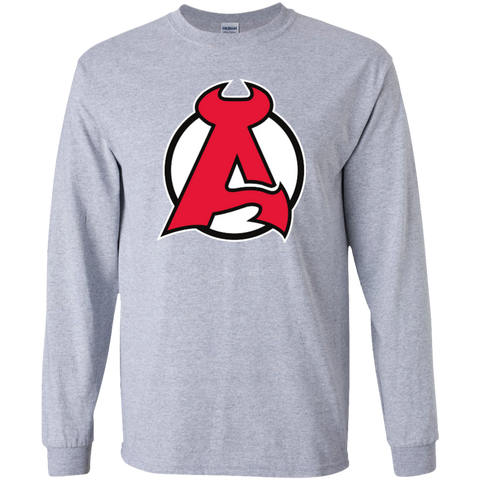 Albany Devils Primary Logo Youth Long Sleeve T-Shirt