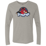 Rockford IceHogs Primary Logo Next Level Men's Triblend LS Crew