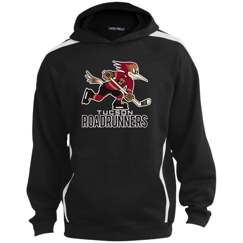 Tucson Roadrunners Primary Logo Youth Sleeve Stripe Hooded Pullover