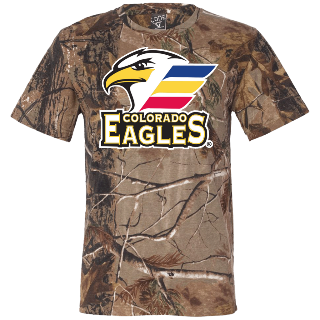 Colorado Eagles Primary Logo Short Sleeve Camouflage T-Shirt