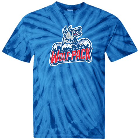 Hartford Wolf Pack Primary Logo Adult Tie Dye T-Shirt