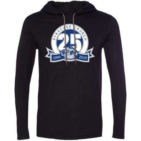 Syracuse Crunch 25th Anniversary Adult Long Sleeve T-Shirt Hoodie