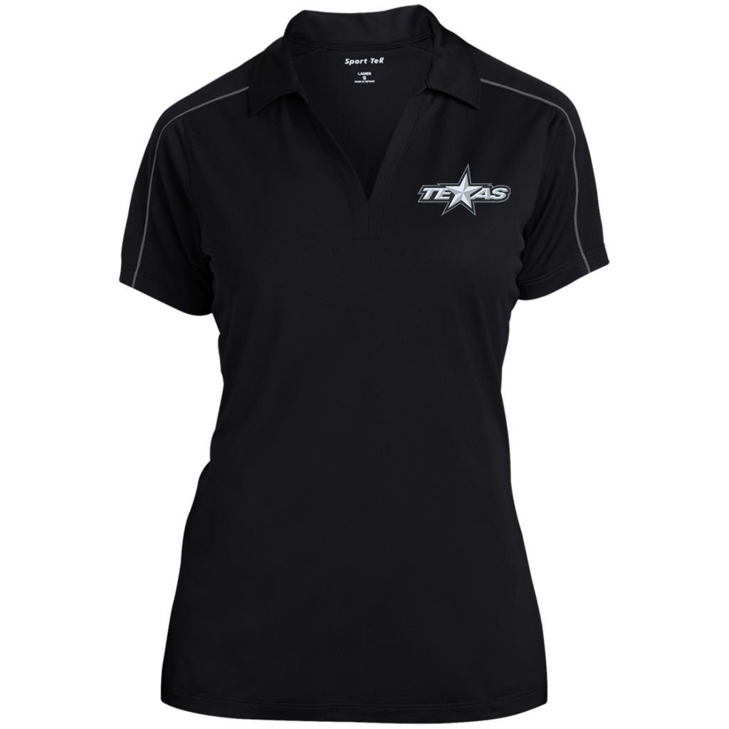 Texas Stars Ladies Micropique Sport-Wick Piped Polo