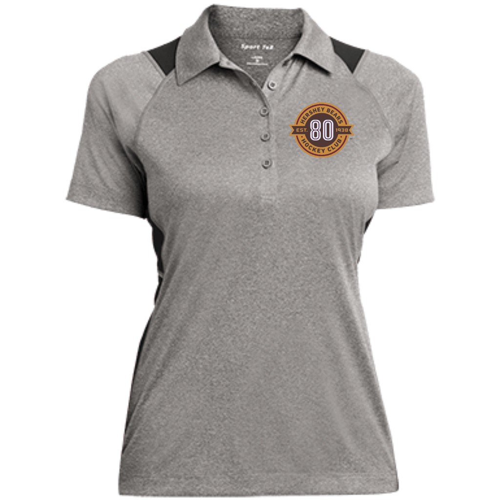 Hershey Bears 80th Anniversary Ladies' Heather Moisture Wicking Polo
