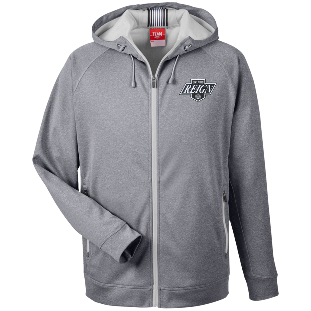 Ontario Reign Team 365 Men's Heathered Performance Hooded Jacket