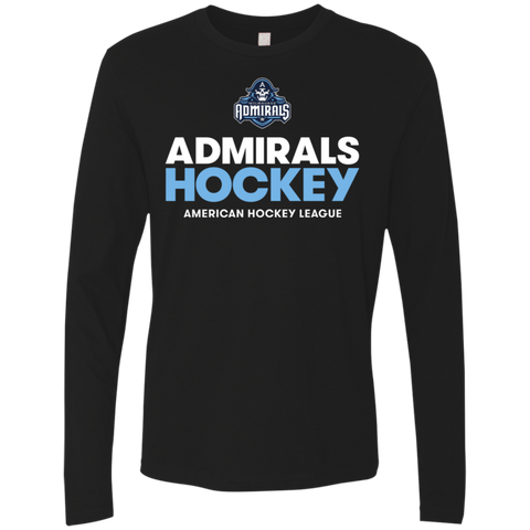 Milwaukee Admirals Hockey Next Level Men's Premium Long Sleeve T-Shirt