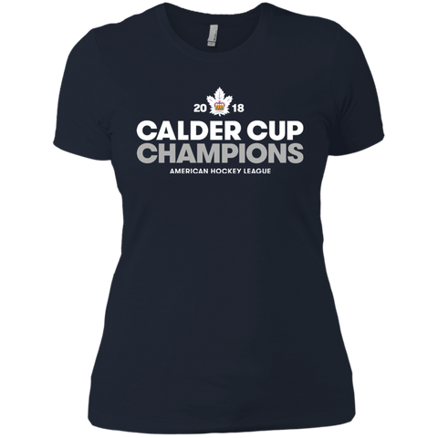 Toronto Marlies 2018 Calder Cup Champions Adult Crown Next Level Ladies' T-Shirt
