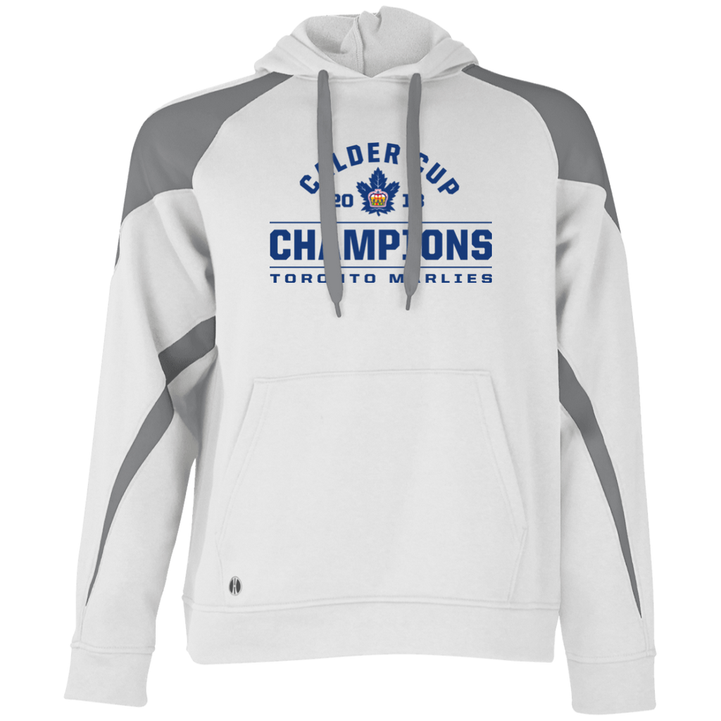 Toronto Marlies 2018 Calder Cup Champions Adult Arch Colorblock Hoodie