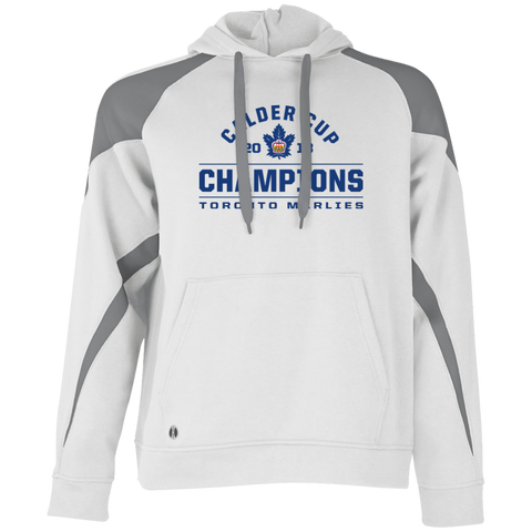 7620cf4c022 Toronto Marlies 2018 Calder Cup Champions Adult Arch Colorblock Hoodie