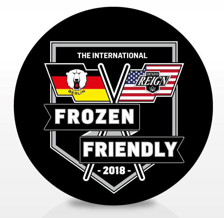 2018 Ontario Reign Frozen Friendly Souvenir Puck