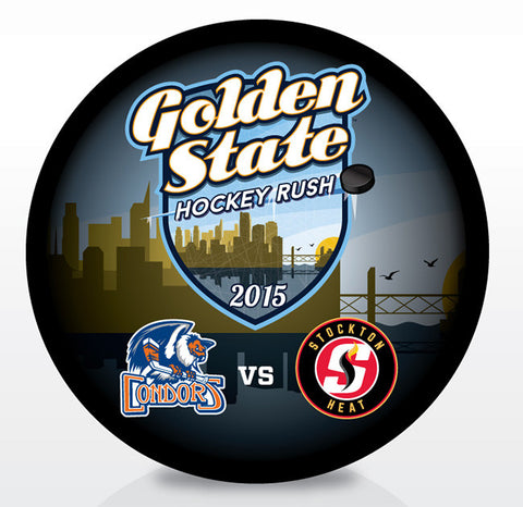 2016 Golden State Hockey Rush Souvenir Puck