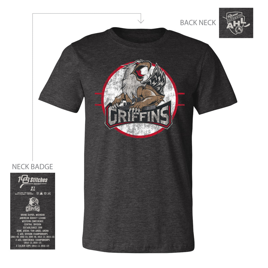 108 Stitches Grand Rapids Griffins Adult Circle T-Shirt