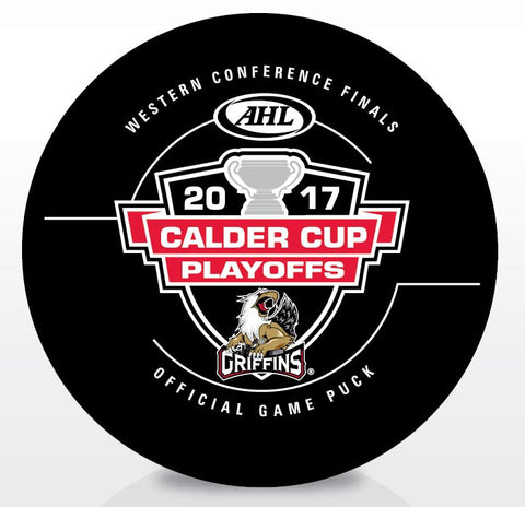Grand Rapids Griffins 2017 Western Conference Finals Official Game Puck