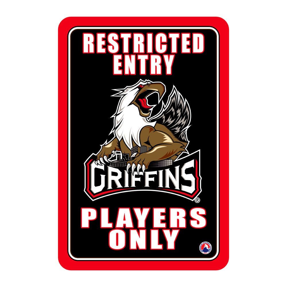 "Grand Rapids Griffins ""Players Only"" Sign"