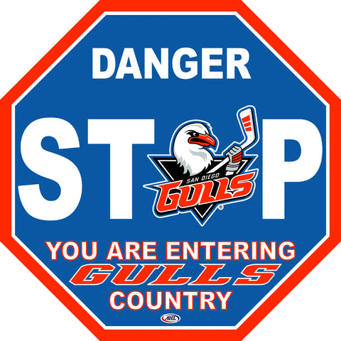 San Diego Gulls Fan Stop Sign