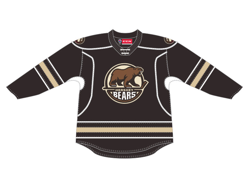 CCM Quicklite Hershey Bears Customized Premier Brown Jersey
