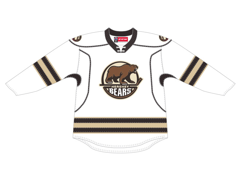 CCM Quicklite Hershey Bears Customized Premier White Jersey