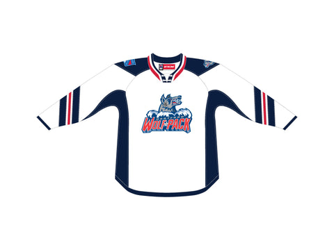 CCM Quicklite Hartford Wolf Pack Customized Premier White Jersey