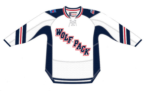 CCM Hartford Wolf Pack Customized Premier White Jersey