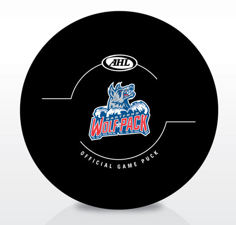 Hartford Wolf Pack New Look Official Game Puck