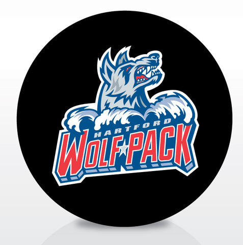 Hartford Wolf Pack Team Logo Souvenir Puck