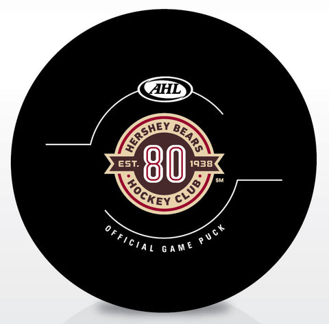 Hershey Bears 80th Anniversary Official Game Puck