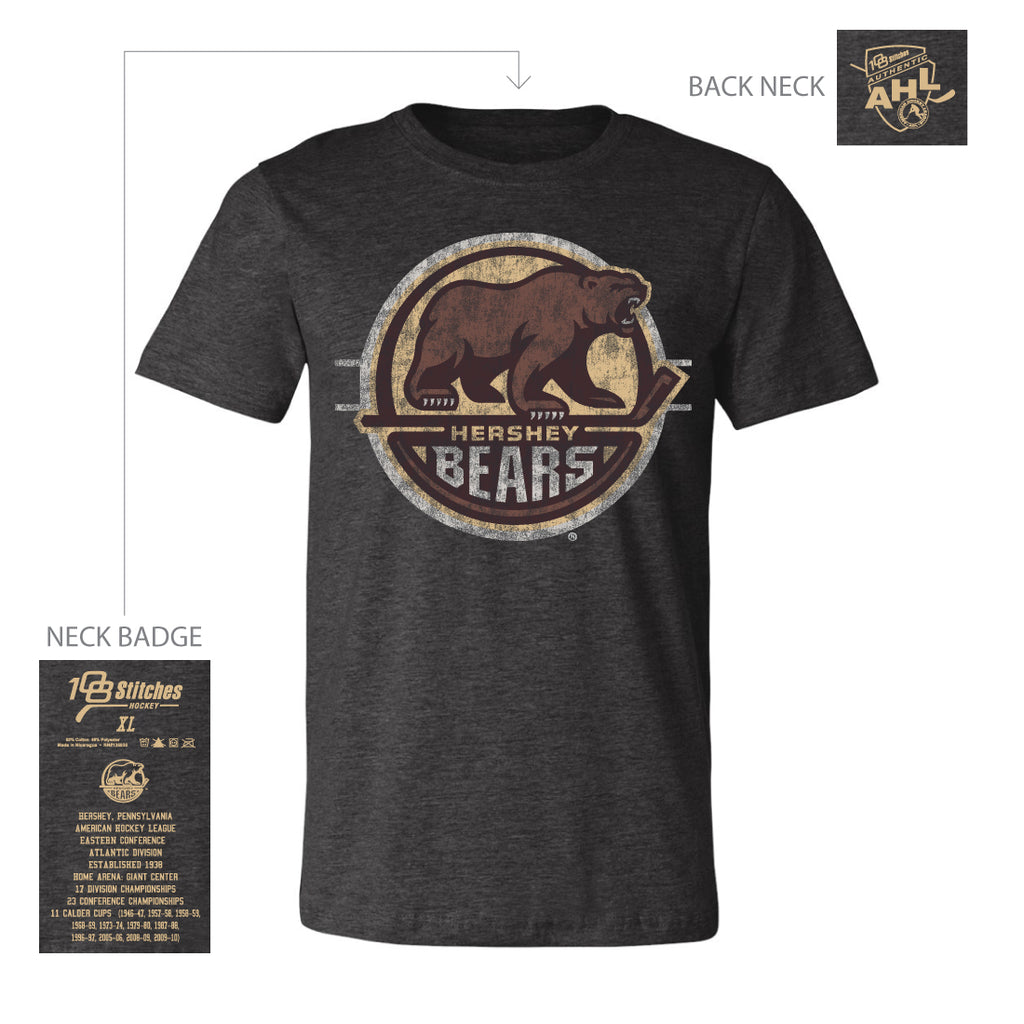 108 Stitches Hershey Bears Adult Circle T-Shirt
