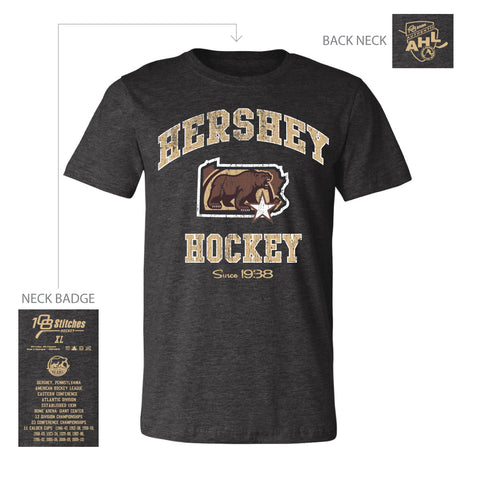 108 Stitches Hershey Bears Adult State of Pennsylvania T-Shirt