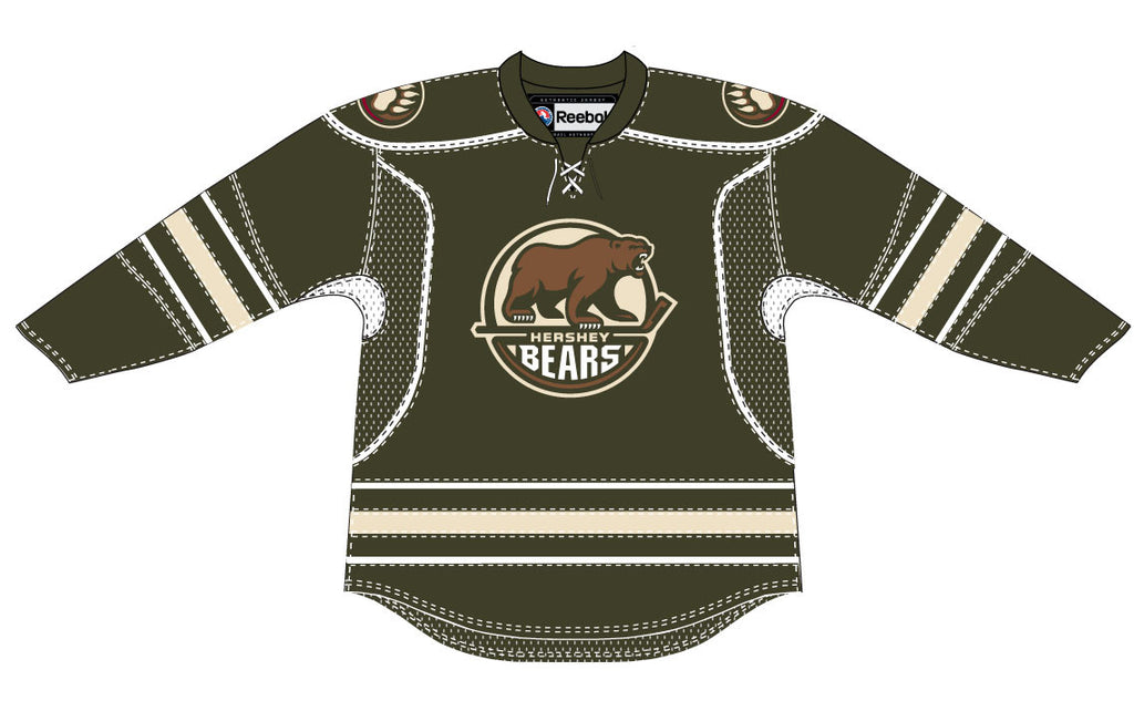 Reebok-CCM Hershey Bears Customized Premier Away Jersey