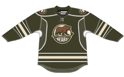 CCM Hershey Bears Customized Premier Brown Jersey