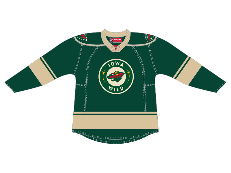 CCM Quicklite Iowa Wild Customized Premier Green Jersey