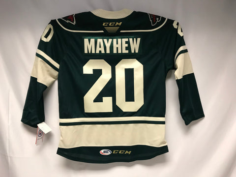 CCM Gerry Mayhew Iowa Wild Customized Premier Green Jersey