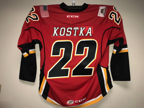 Mike Kostka Stockton Heat Customized Red Jersey